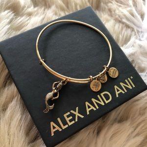 gold alex and ani mermaid bangle bracelet